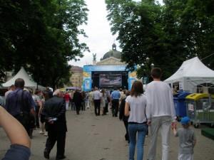 Сцена у львівській фан зоні