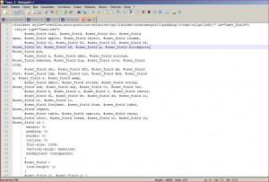 код оформлення в Notepad++