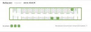 вибір місць при замовленні квитків на потяг