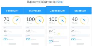 Тарифи домашнього інтернету від київстар для Києва
