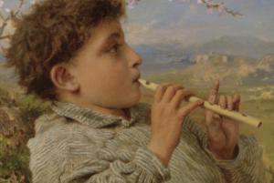 Зображення хлопчика з сопілкою